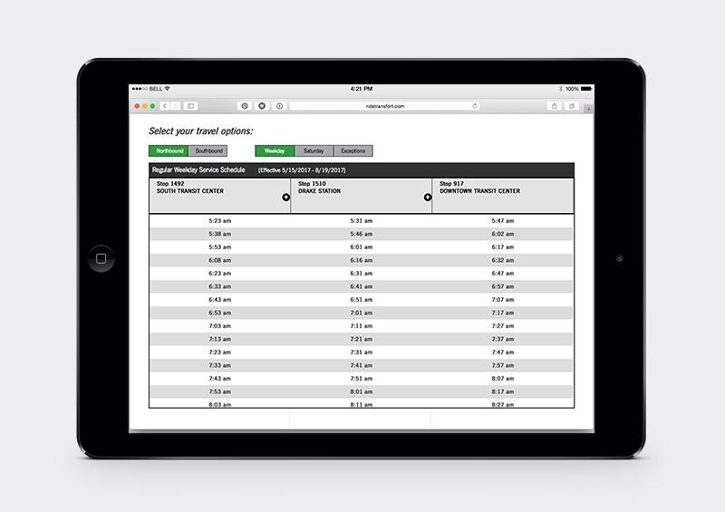 transfort bus schedule